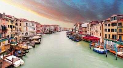 Nálepka Venice - Grand Canal od mostu Rialto