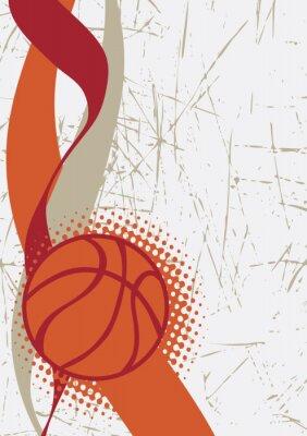 Nálepka Vertikální basketbal poster.Abstract pozadí