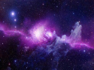 Nálepka Vesmír naplněný hvězdy, mlhoviny a galaxie