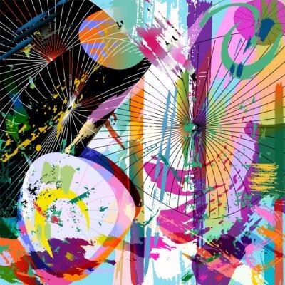 Nálepka vícebarevný abstraktní složení, vektorový formát
