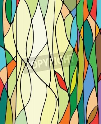 Nálepka Vícebarevný vitráže