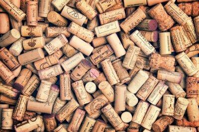 Nálepka Víno korky pozadí