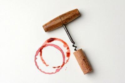 Nálepka Víno Stain a Antique vývrtka