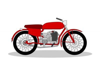 Nálepka vinobraní motorky ilustrace na bílém