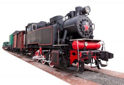 Nálepka vinobraní, velkýma, parní vlak