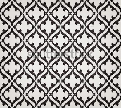 Nálepka Vintage abstraktní květinový vzor bezešvé. Protínající se zakřivené elegantní stylizované listy a svitky tvořící abstraktní květinový ornament v arabském stylu. Arabeska. Dekorativní mříže