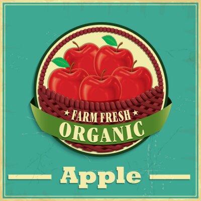 Nálepka Vintage apple poster design