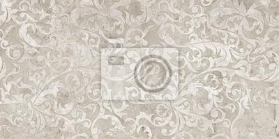 Nálepka vintage background with floral damask pattern