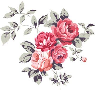 Nálepka Vintage Pink Roses