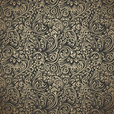 Nálepka Vintage seamless pattern with curls