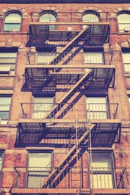 Nálepka Vintage styl fotografie z New York budovy, USA.