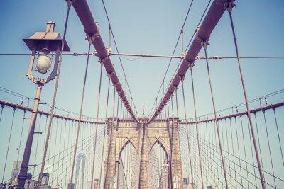 Nálepka Vintage tónovaný obraz Brooklynský most, NYC.