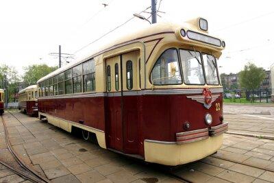 Nálepka Vintage tramvají