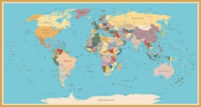 Nálepka VINTAGE WORLD MAP