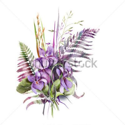 Nálepka Violas Bouquet
