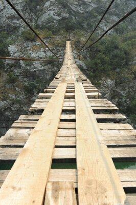 Nálepka Visutý most v kaňonu