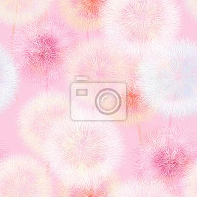 Vivid color abstract dandelion flower