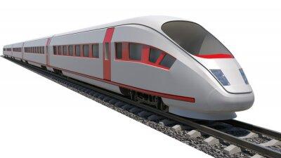 Nálepka Vlak na bílém pozadí