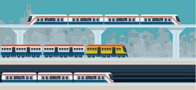 Nálepka Vlak, Sky Train, Subway, ilustrace Ikony objekty