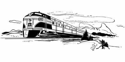 Nálepka Vlak Travel