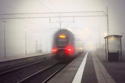 Nálepka vlaková opuštění stanice