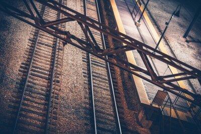 Nálepka Vlakové nádraží v noci