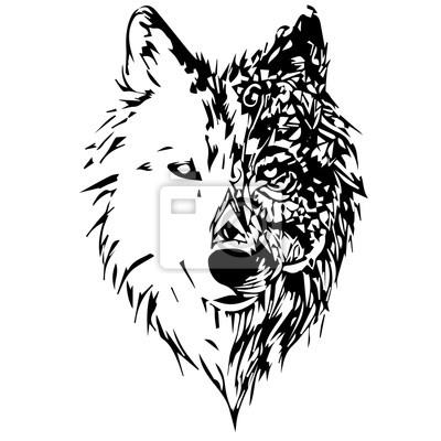Nálepka vlci