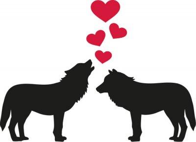 Nálepka Vlci v lásce