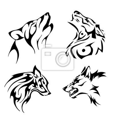 Nálepka vlk
