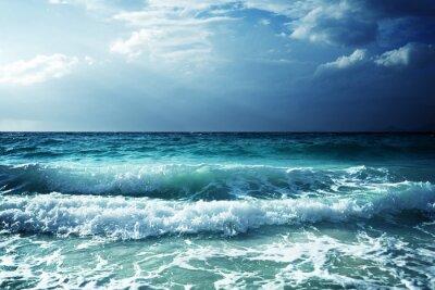 Nálepka Vlny na pláži Seychely