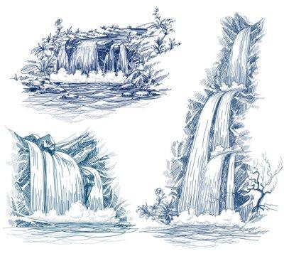 Nálepka Voda padá vektorové kreslení