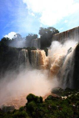 Nálepka vodopád / Iguazu Falls v Argentině