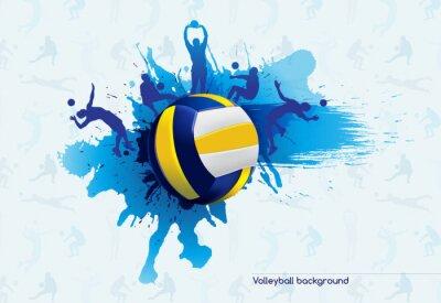Nálepka Volejbal abstraktní