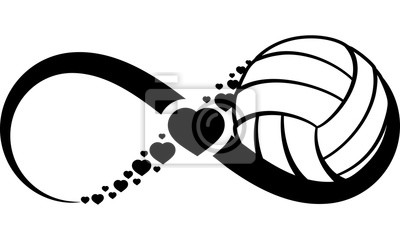 Nálepka volejbal-heart-infinity4