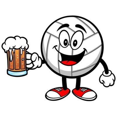 Nálepka Volejbal Mascot s pivu