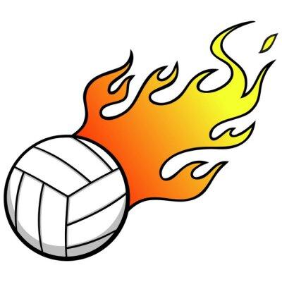 Nálepka Volejbal s Flames