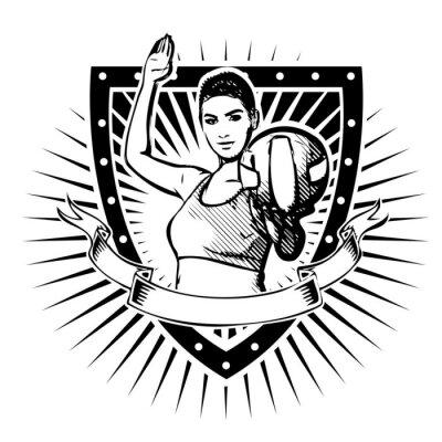 Nálepka Volejbal Shield