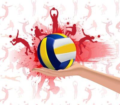 Nálepka Volejbal sportovní design pozadí
