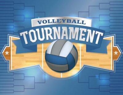 Nálepka Volejbal turnaj design Poster ilustrace