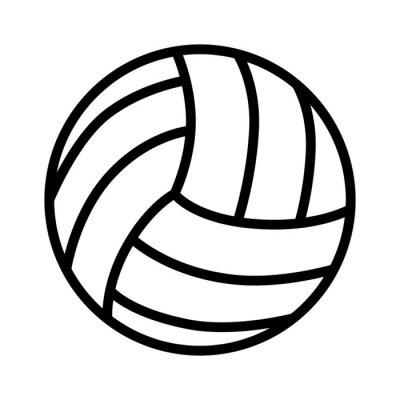 Nálepka Volejbalové míče perokresby ikona sportovních aplikací a webů