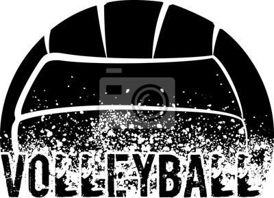 Nálepka Volleyball Dark Grunge