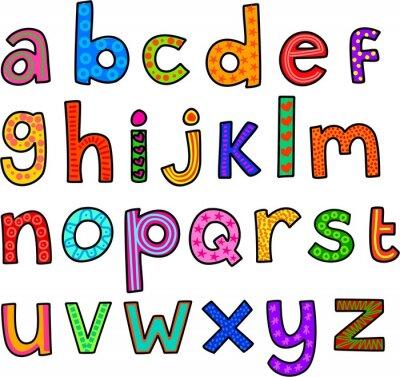 Nálepka Vtipné malými písmeny abecedy