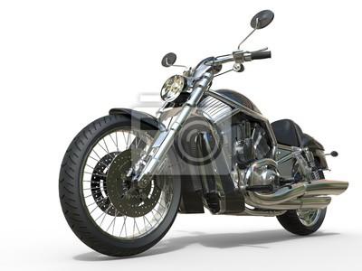 Nálepka Výkonný Vintage Motocykl - Detailním