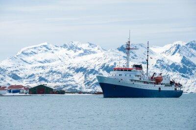 Nálepka Výletní loď v Antarktidě