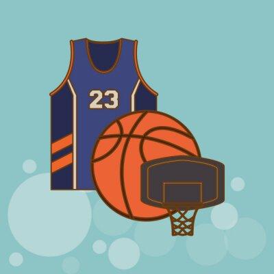 Nálepka výprava ikonu basketbal