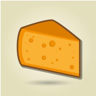 Nálepka výprava ikonu sýr