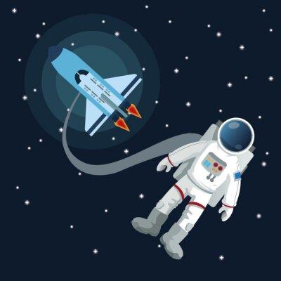 Nálepka výprava ikonu vesmírných