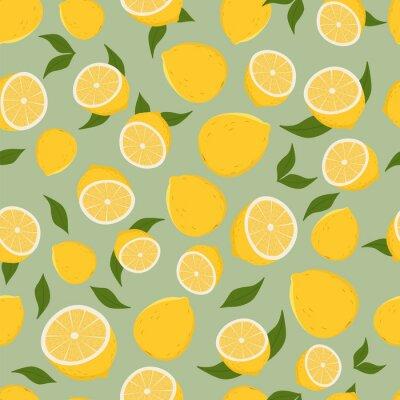 Nálepka Vzor citronů.