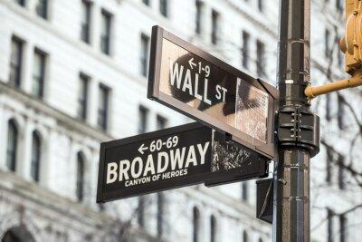 Nálepka Wall Street podepsat v New Yorku