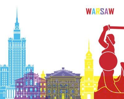 Nálepka Warsaw skyline pop